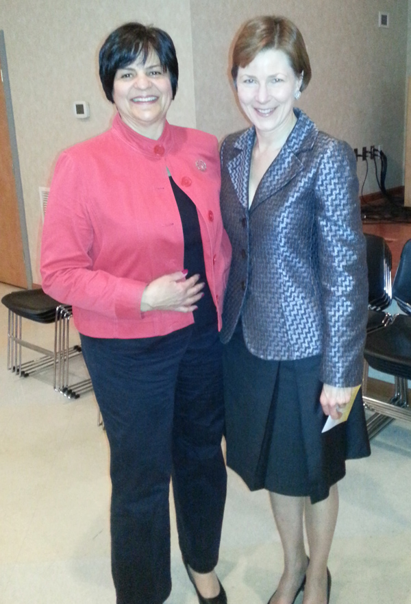 With Anne Ewers, President & CEO of Kimmel Center, who manages the Academy of Music and the Merriam Theatre.