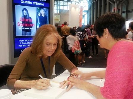 Annmarie Kelly with Gloria Steinem