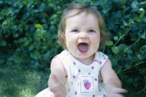 Toddler With Arms Outstretched