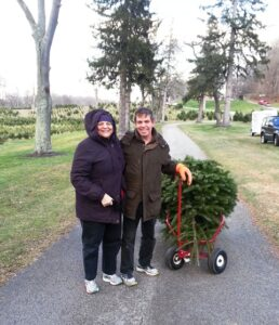 Annmarie and Joseph at the Christmas Tree Farm