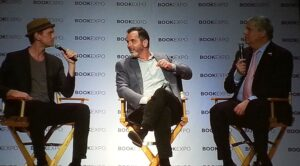 Neil Patrick Harris and Lemony Snicket at bookexpo17
