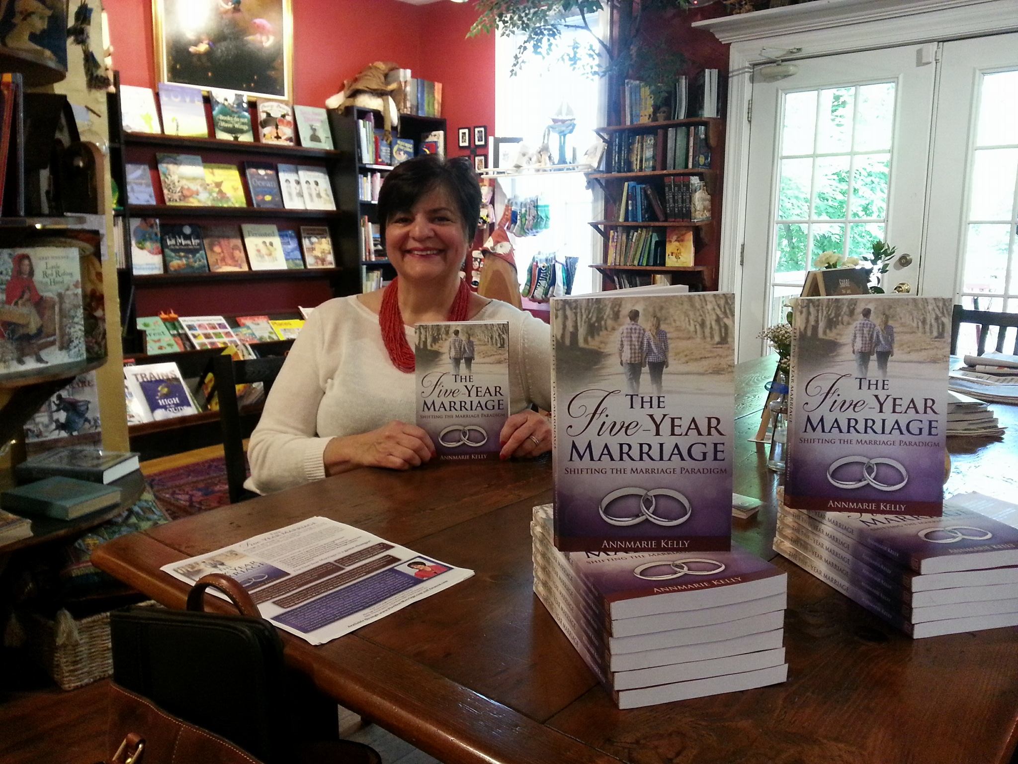 book signing - five year marriage - annmarie kelly