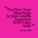What's the Five-Year Marriage?
