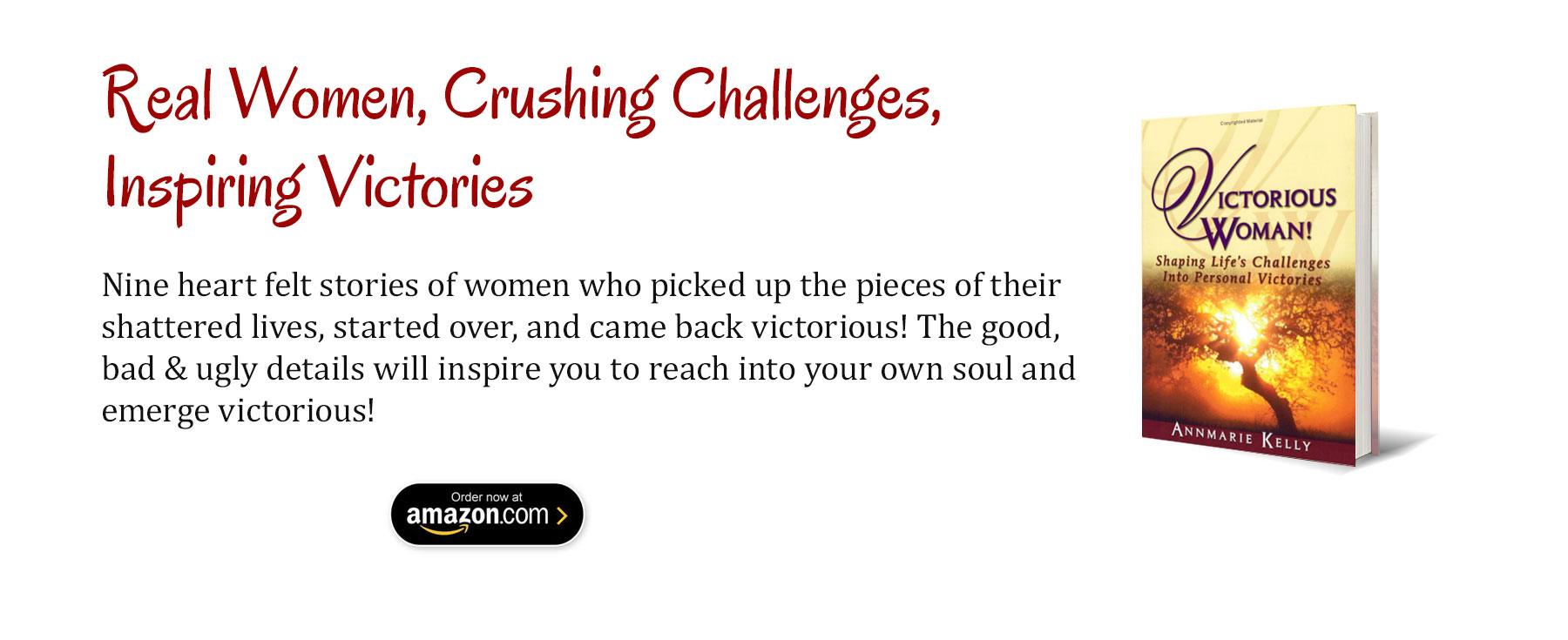 Victorious Woman Book by Annmarie Kelly