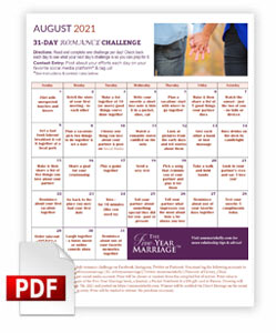 romance month challenge calendar 2021